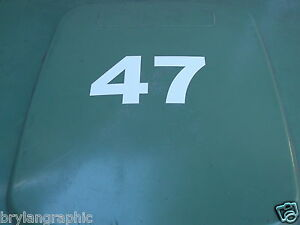 Double Digit House Number For a Wheelie Bin - Vinyl  decal. Can be made larger.