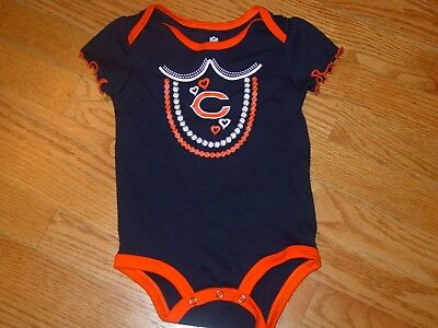 Nice Outerstuff Nfl Infant Girls Chicago Bears Assorted 3 Pack Creeper Set Available In Various Designs And Specifications For Your Selection Football-nfl Clothing, Shoes & Accessories