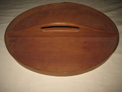 Canterbury Woodworks NH Oval Shaker Style Serving Tray w/ Handle Cherry Wood 13