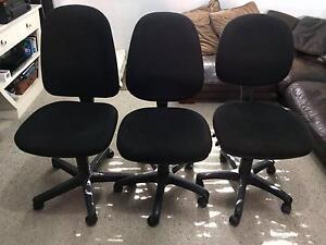 3 x Black office chairs Cronulla Sutherland Area Preview