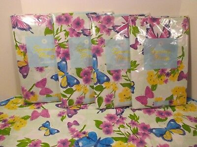 NIP Elrene Green Floral Butterfly Vinyl Easy Wipe Party Kitchen Tablecloth](Butterfly Tablecloth)