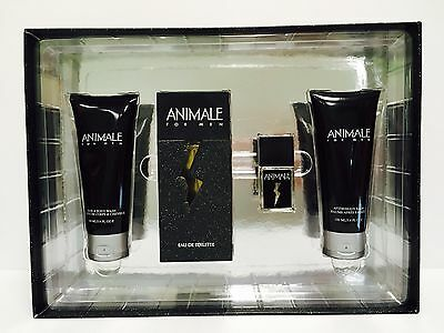 ANIMALE for Men 4PC GIFTSET 3.4 OZ + 3.4 A/SHAVE+ 3.4 B/WASH+ MINI 0.25 Animale Animale Gift Set