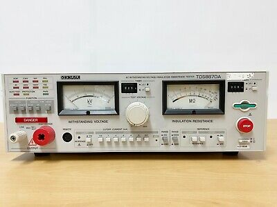 Kikusui Tos8870a Ac Withstanding Voltage Insulation Resistance Tester