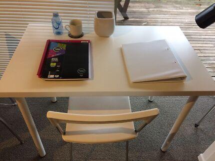 White Table 100x60