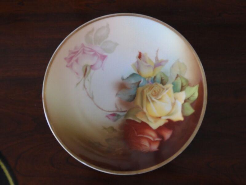Antique 1910 Thomas Sevres, Marechal Niel/Berry Bavarian Plate