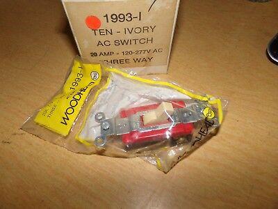 New Woodhead 1993-1 Ivory Switch 20a 120vac 3-way Box Of 10