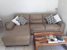 Leather Sofa with chaise- excellent condition Woollahra Eastern Suburbs Preview