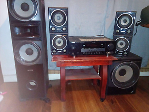 Yamaha amplifier 5.1 channel with sony speakers goes hood bargain Bayswater Bayswater Area Preview