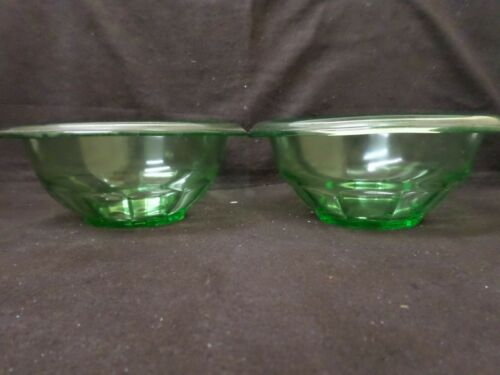 Two(2) Hazel Atlas Green Depression Mixing Bowls
