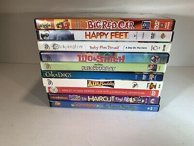 10 DVD LOT Children Disney & Assorted The Wiggles Lilo & Stitch Baby Einstein