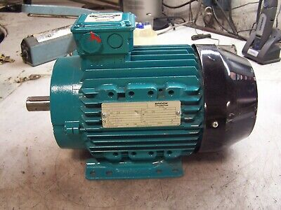 New Brook Crompton 1 Hp Electric Ac Motor 460 Vac 1130 Rpm 3 Phase 1 Dia