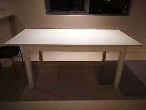 VERY NICE WHITE DINING TABLE & SIX CHAIRS Macquarie Park Ryde Area Preview