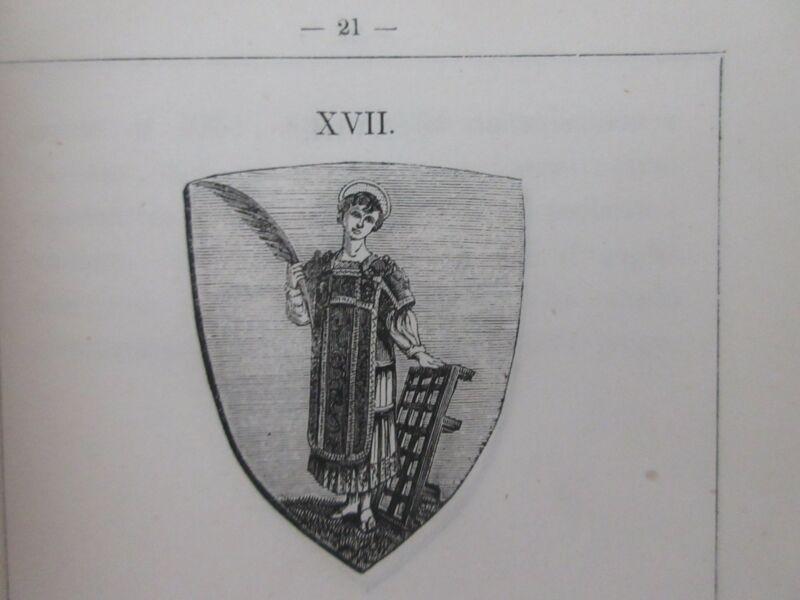 rare 1864 HERALDRY BOOK TUSCANY ITALY FIRENZE armi toscani