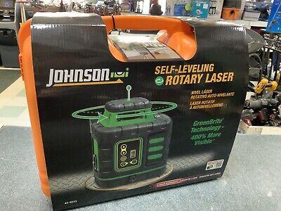 850 Johnson Self-leveling Rotary Laser W Greenbrite Technology 40-6543 New