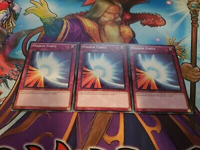 3x Mirror Force Unlimited Edition Common YGLD A,B,C Mixed Yu-Gi-Oh! Yu Gi Oh Mirror Force