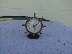 Ship Nautical Steering Wheel Clock Accurate Quartz