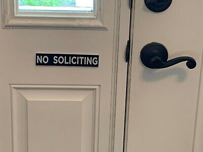 Engraved No Soliciting door Sign Privacy , engraving , US seller.  Engraved Door Sign