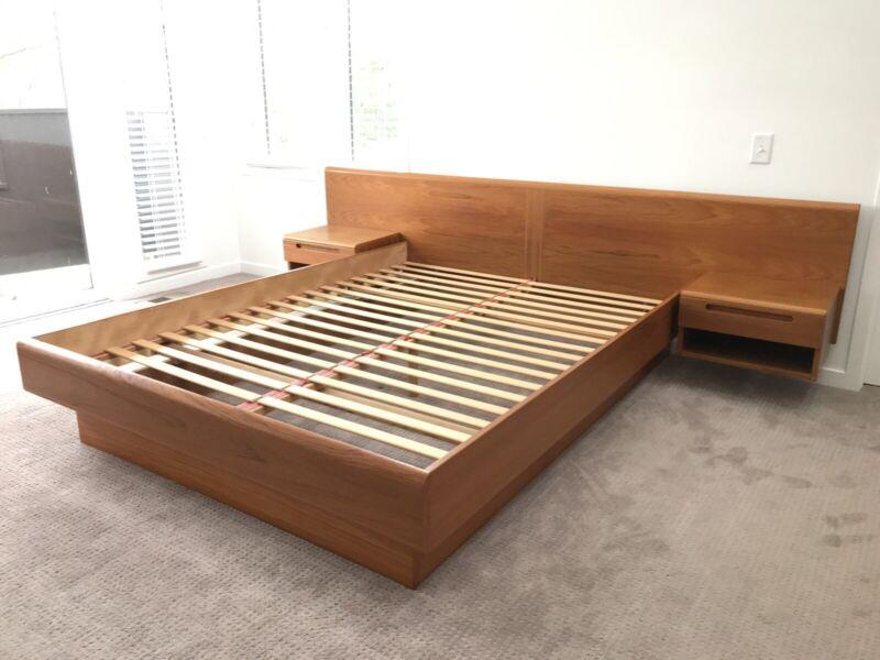 Mid Century Danish Modern Vintage Queen Size Platform Bed By Jasper