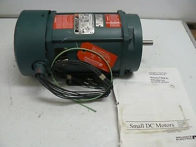 Reliance Electric T56H1461AB-HD motor 1/3 hp 1725 rpm 90 volt 3.8 amps new