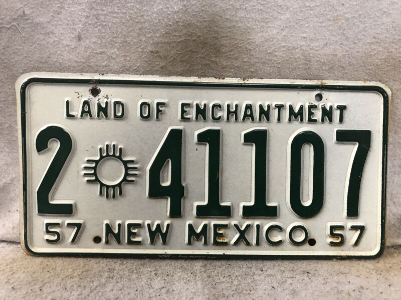 Vintage 1957 New Mexico License Plate