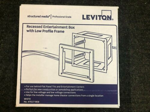 "LEVITON 47617-REB RECESSED ENTERTAINMENT BOX LOW PROFILE FRAME ""New"""