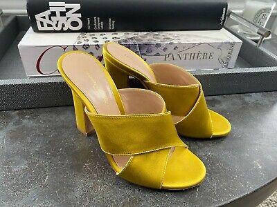 GIANVITO ROSSI Yellow Satin Pump Mule Size 35 5