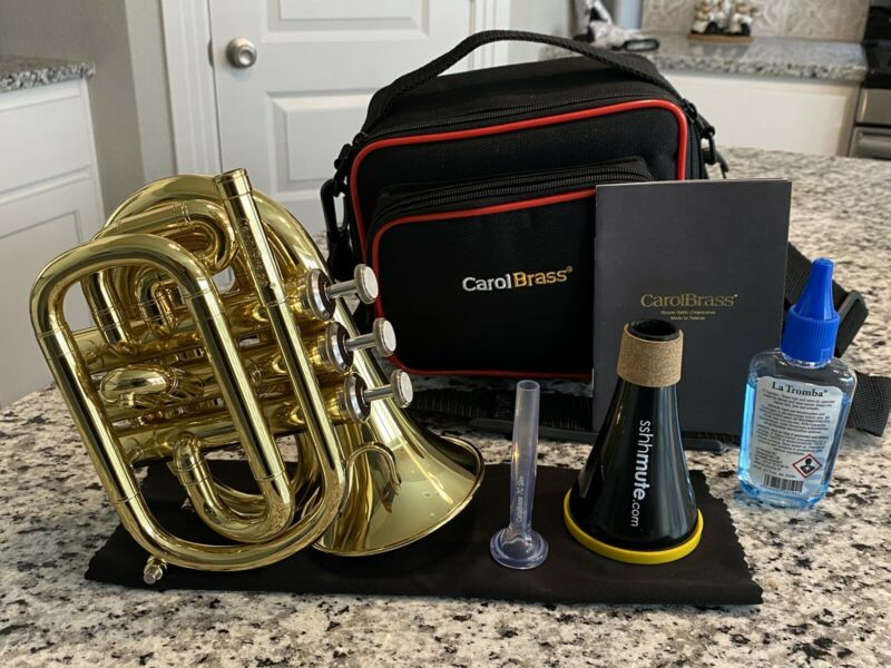 Carol brass Mini Pocket Trumpet CPT-1000-YSS-Bb