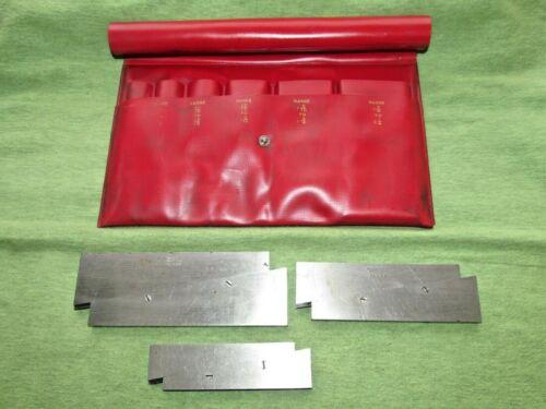 Vintage 3pc Lufkin Rule Adjustable Parallel Set - pn