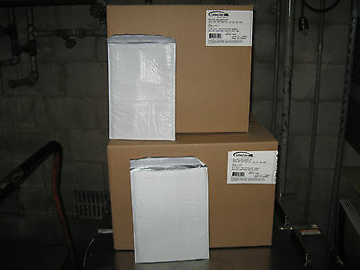 200 Xpak White Poly Bubble Mailer Combo Pack 100 - 1 100 - 2 - Ships Free