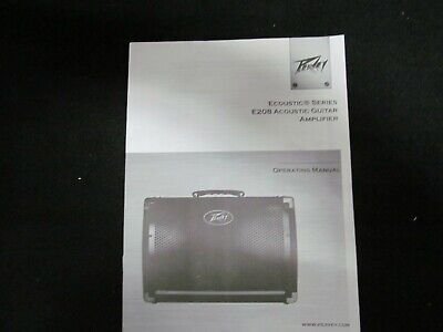 Peavey Ecoustic Series E208 Acoustic Guitar Amplifier Owner's Manual