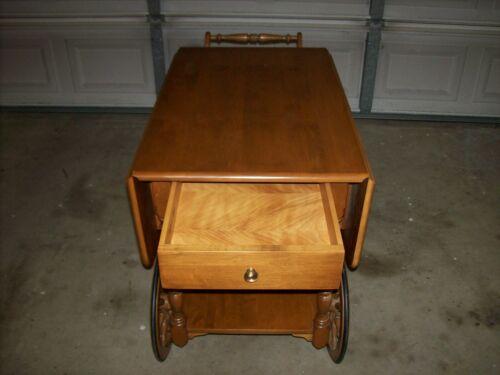 Ethan Allen Maple Tea Cart