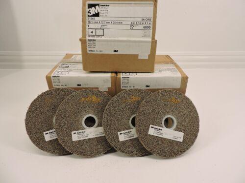 """4-pack 3M Scotch-Brite 91965 6"""" x 1/2"""" x 1"""" Wheel 5A CRS"""