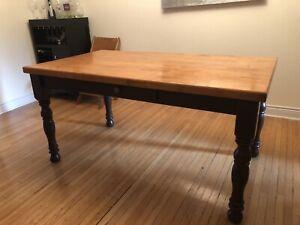 Harvest Wood Dining Table