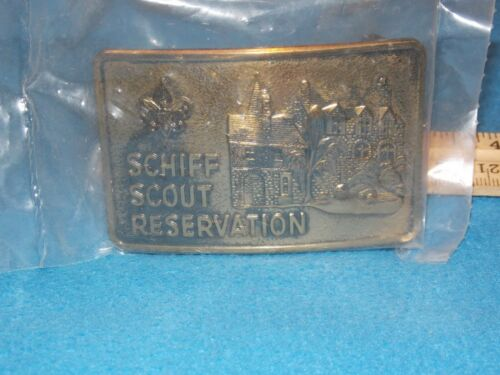 VINTAGE - Schiff Scout Reservation Belt Buckle - NEW AND SEALED
