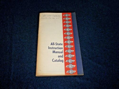 Vintage 1970 All-State Instruction Manual and Catalog