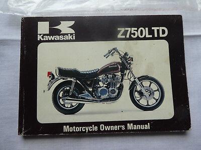 Kawasaki Z75OLTD Motorcycle Owner's Manual