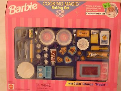 1997 Barbie Cooking Magic Baking Set Meal Set w/Color Change Magic - MIB NRFB !!