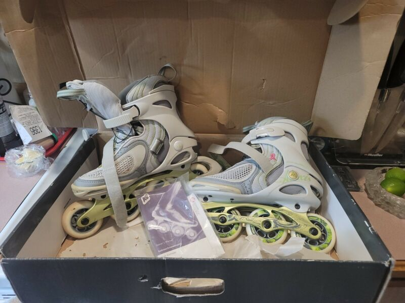 Alexis T-Nine Womens White/ Brown Rollerblades Size 9  (In-Line Skates)