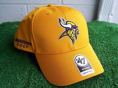 Bridgestone Golf Minnesota Vikings Gelb Golfhut Kappe NFL Team Verstellbar