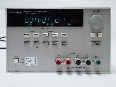Agilent E3633a Programmable Dc Power Supply 0-8v 20a0-20v 60vdc 115v 10a Tested