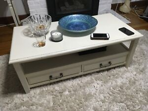 Coffee table with 2 side tables from Pier One
