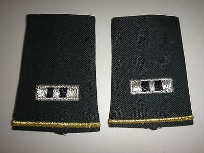 Pair US Army CHIEF WARRANT OFFICER 2 Epaulets Shoulder Badges (Female)