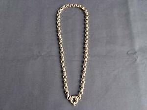 Solid 9ct Yellow Gold Belcher Necklace with Bolt Ring Clasp Victoria Point Redland Area Preview