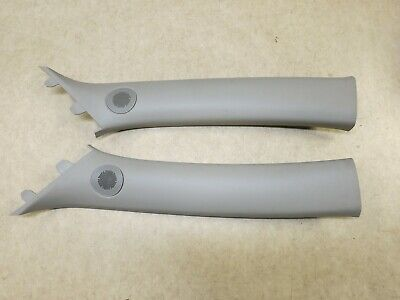 2013-2015 CHEVROLET MALIBU FRONT A-PILLAR TRIM COVER LEFT & RIGHT PAIR GRAY OEM