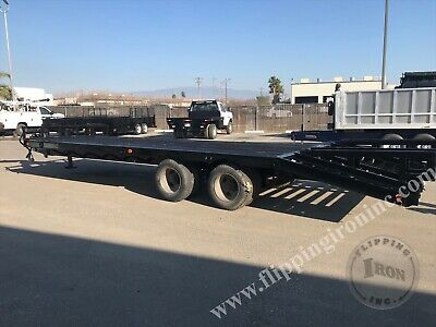 1994 30 Ft. International Heavy Equipment Trailer With Pintle Hitch