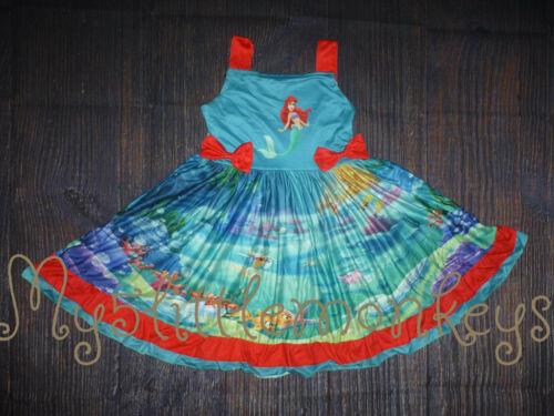 NEW Boutique Ariel Little Mermaid Girls Sleeveless Twirl Dress