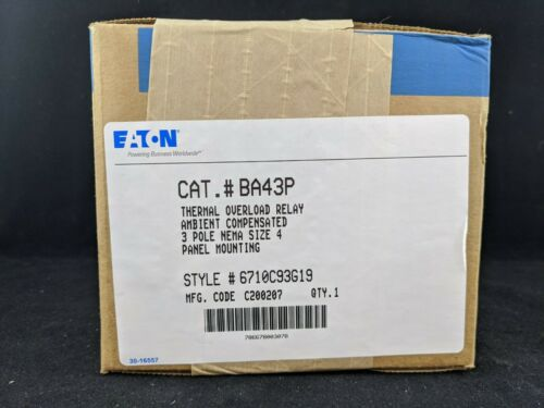 Eaton BA43P Thermal Overload Relay 3 Pole Size 4