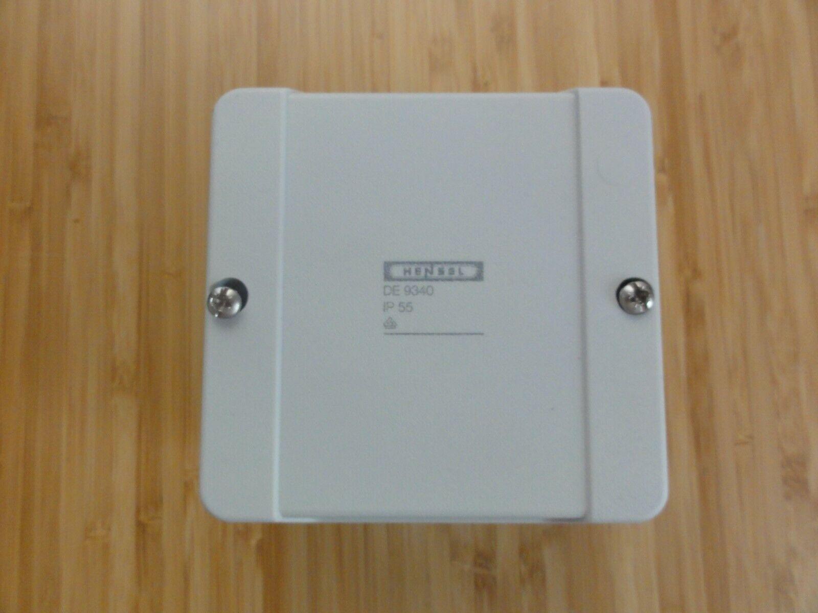 Kunststoff Hensel Aufputz-Kabelabzweigkasten D9020  2,5mm² 88x88x53mm,