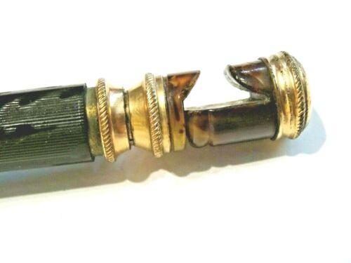 JULIUS KING 1889 TELESCOPING DETACHABLE OPERA GLASSES HOLDER ~ GOLD PLATED