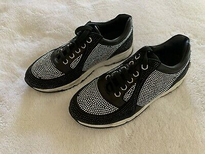 Philipp Plein Junior Kid's Real Fur Leather Fashion Sneakers Shoes Size 33